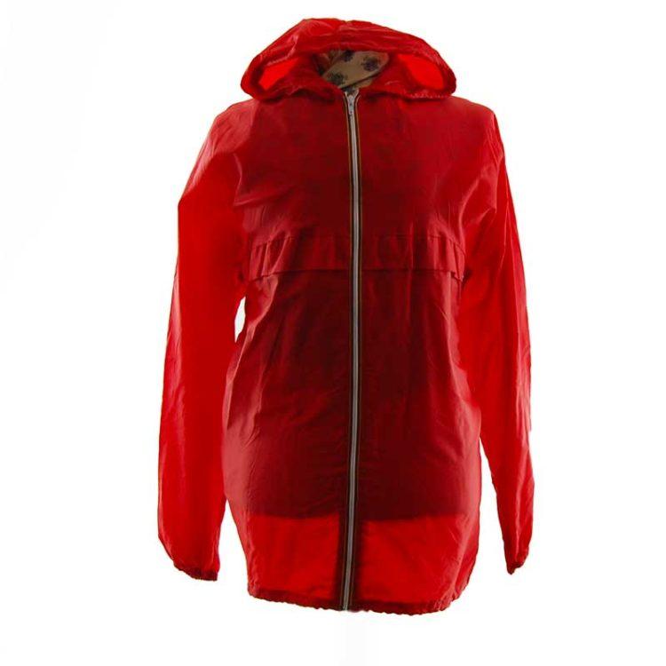 90s Bright Red Windbreaker Jacket