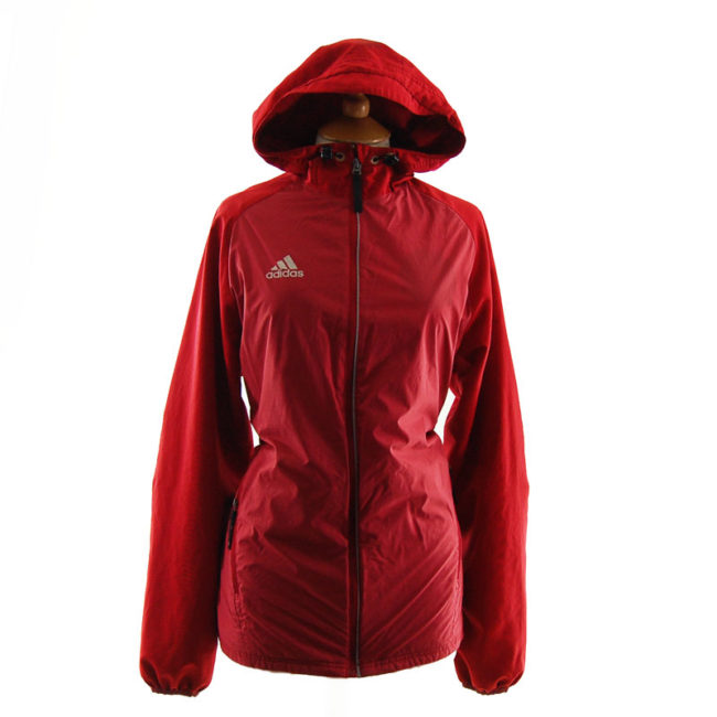 Adidas Red Windbreaker Jacket