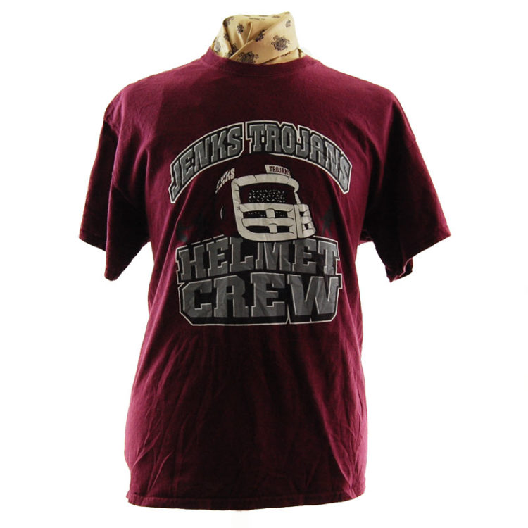 Burgundy Jenks Trojans T Shirt
