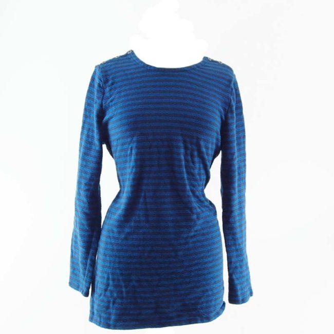 Cotton Blue Long Sleeve Tee Shirt