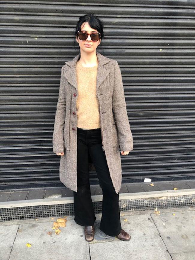 David Bitton Tweed Coat