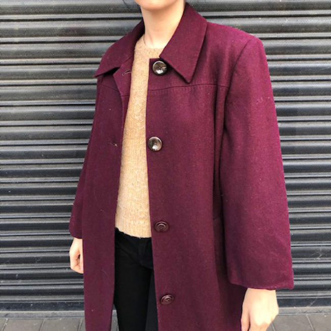 Deep Purple Womens Coat