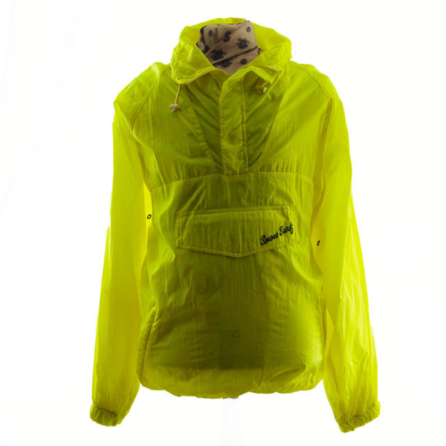Florescent Yellow Windbreaker Jacket