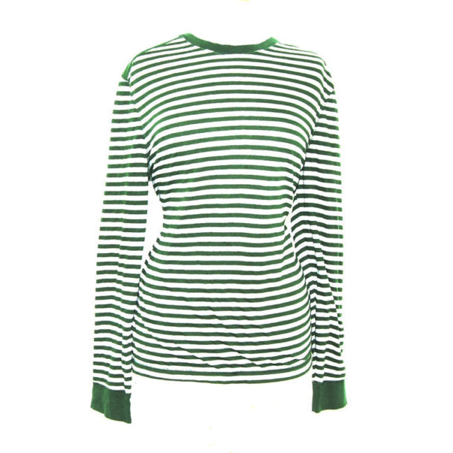 Green And Grey Long Sleeve Tee Shirt