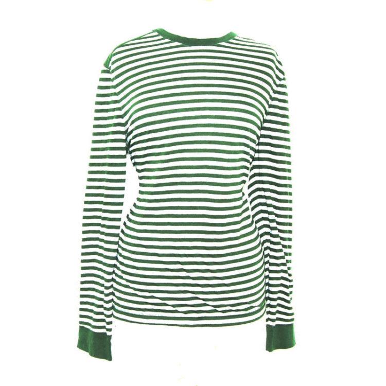 Green And Grey Long Sleeve Tee Shirt