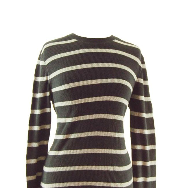 Grunge Striped Long Sleeve Tee Shirt