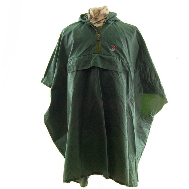 K-Way Army Green Poncho Windbreaker
