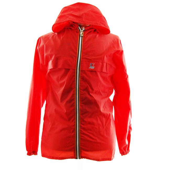 K-Way Red Windbreaker Jacket