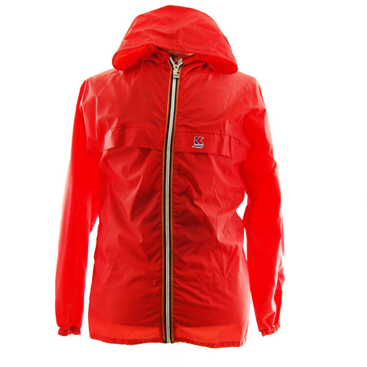 K-Way Red Windbreaker Jacket