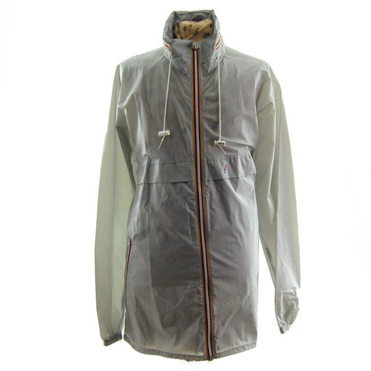 K-way Grey Windbreaker Jacket