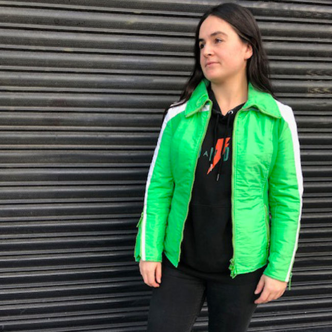 Lime Green Skiing Jacket