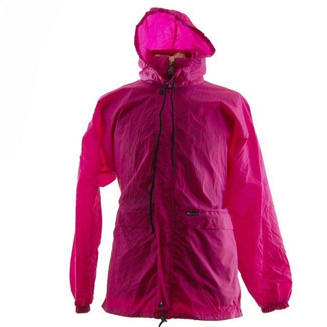 Magenta Block Colour Windbreaker Jacket