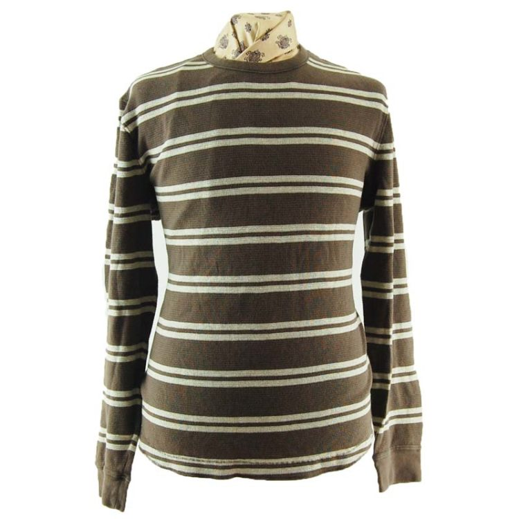 Mens Striped Long Sleeve Tee Shirt