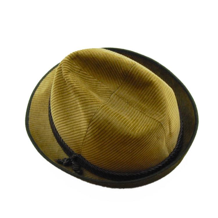 Mens Velvet Cord Austrian Style Hat