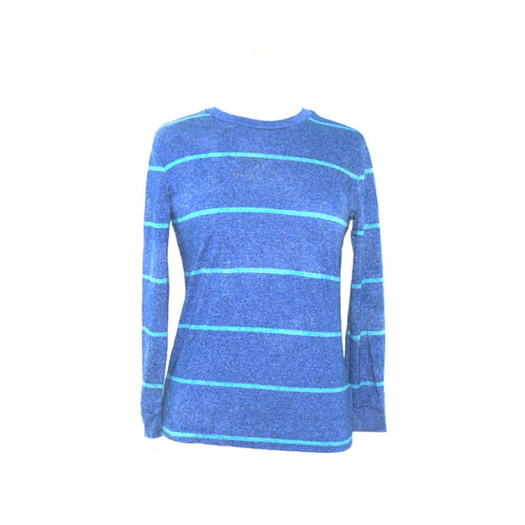 Multi-Tone Blue Long Sleeve Tee Shirt