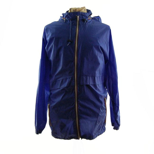 Oversized Purple Windbreaker Jacket