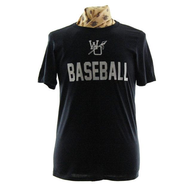 Plain Black Baseball T Shirt