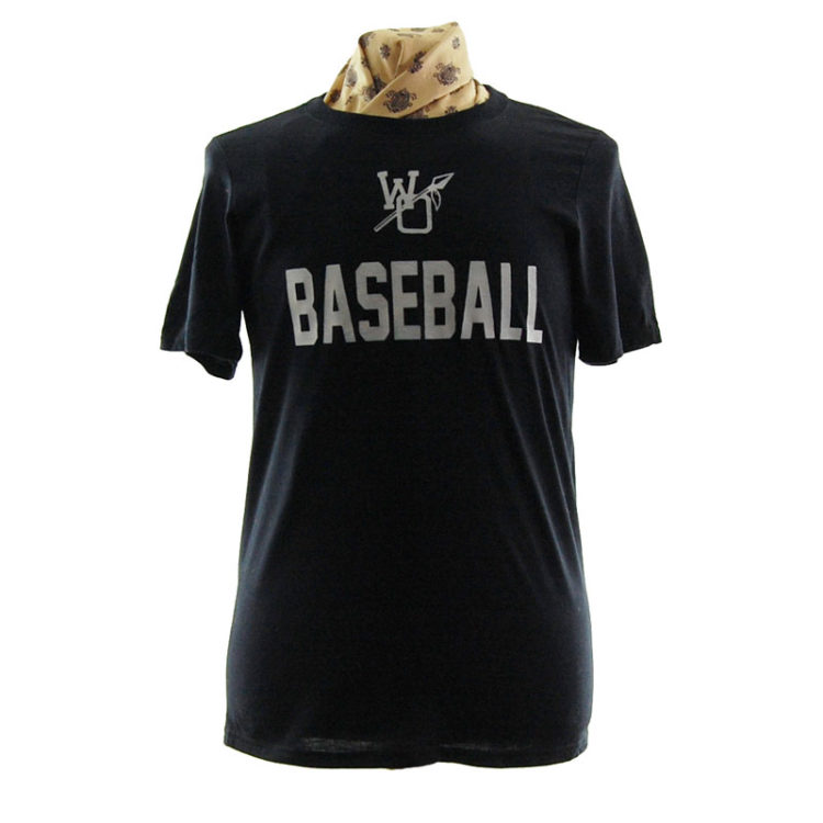 Plain Black Baseball T Shirt