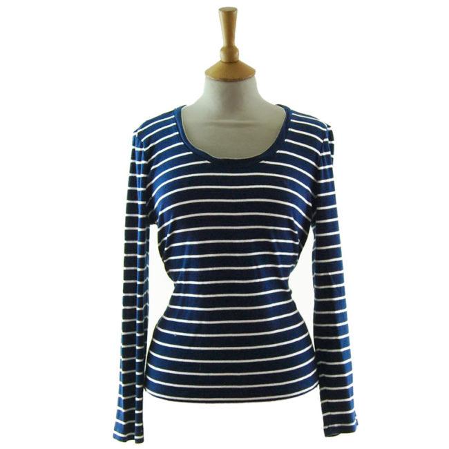 Ralph Lauren Navy Blue Striped Tee Shirt