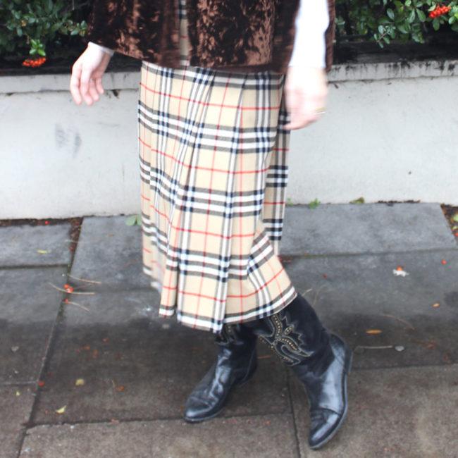 Real Burberry Nova Check Skirt