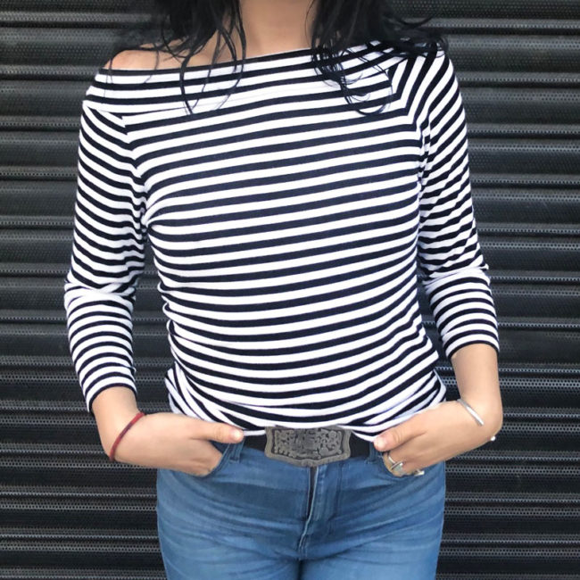 Sailor Stripe Long Sleeve Tee Shirt