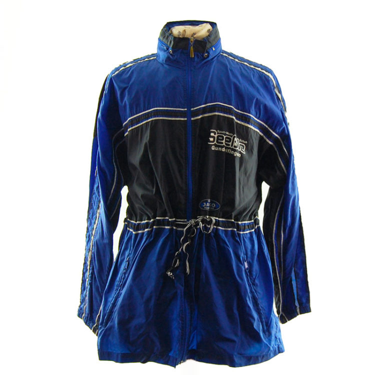 Vintage Blue Windbreaker Jacket