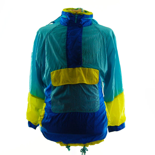Vintage Colour Block Windbreaker Jacket