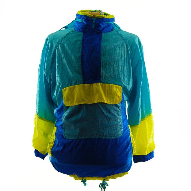 Vintage Colour Block Windbreaker Jacket