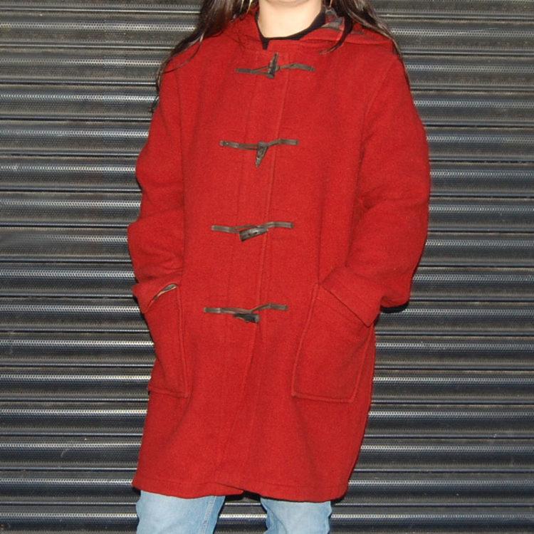 Vintage Red Duffel Coat