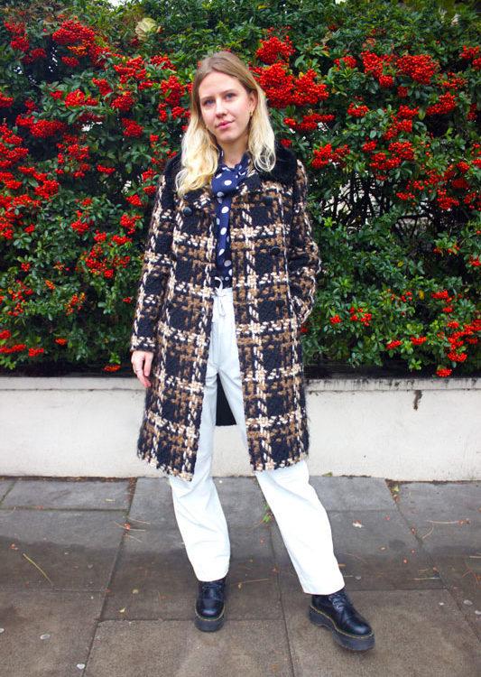 Womens Woven Wool Coat