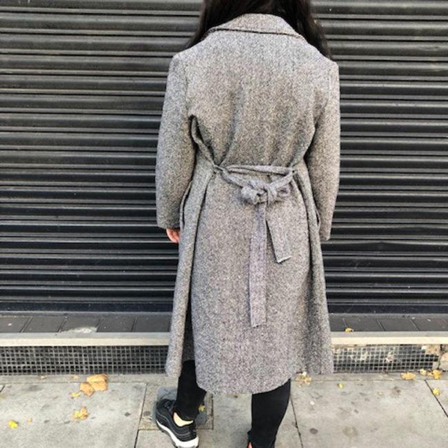 back of 1990s Tweed Coat