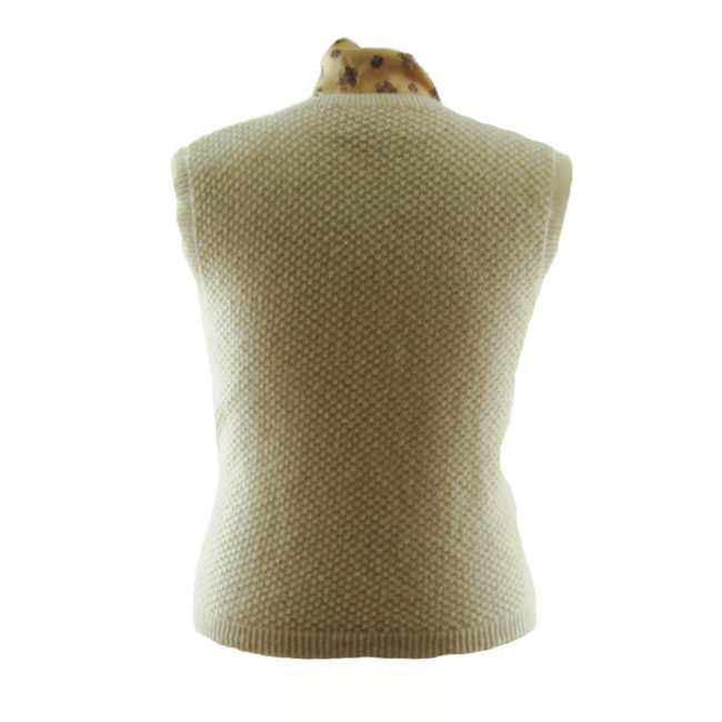 back of 70s Cream Pure Wool Vest