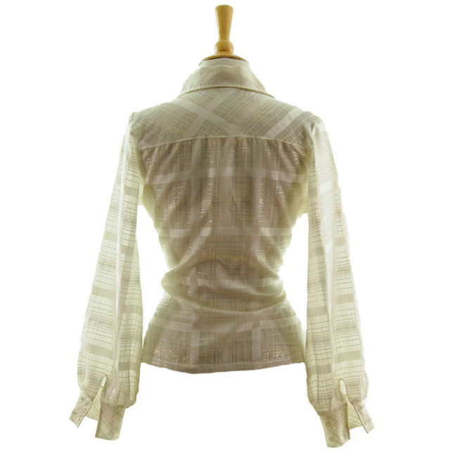 back of 70s Transparent Netted Blouse