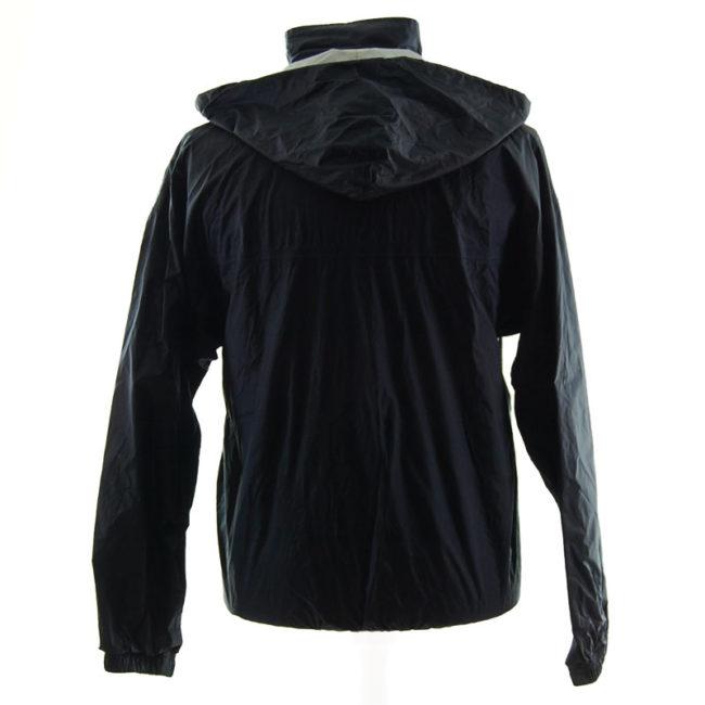 back of Adidas Black Windbreaker Jacket
