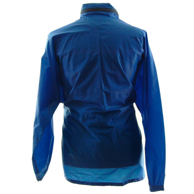 back of Adidas Blue Windbreaker Jacket