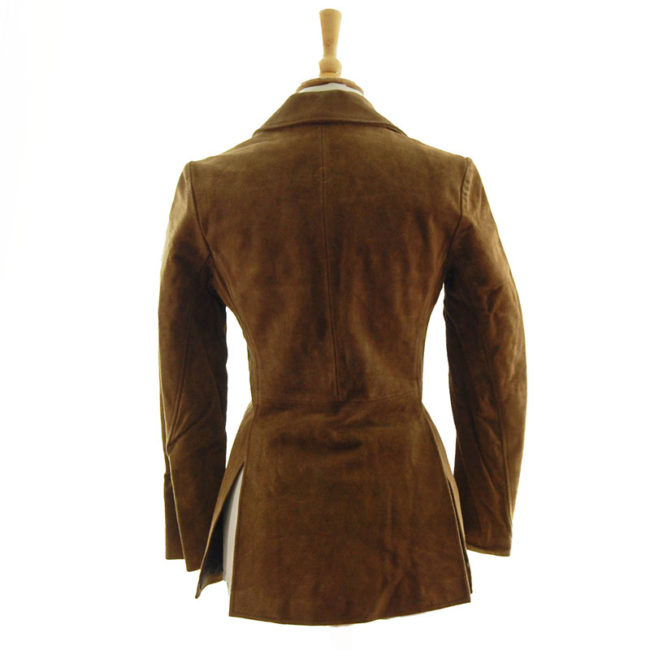 back of Brown Suede Leather Jacket