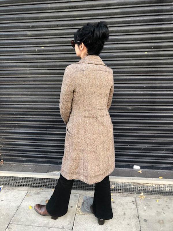 back of David Bitton Tweed Coat