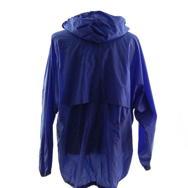 back of Oversized Purple Windbreaker Jacket