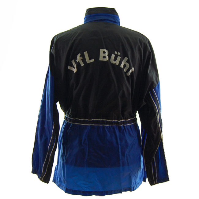 back of Vintage Blue Windbreaker Jacket