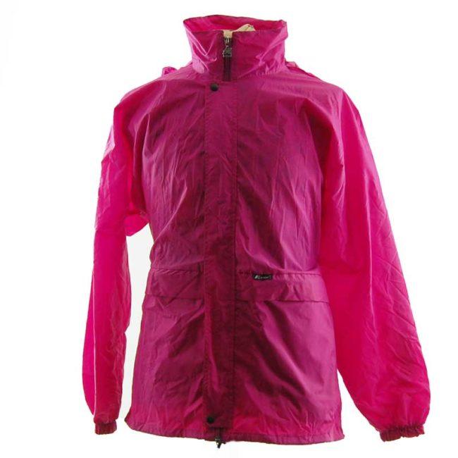 body of Magenta Block Colour Windbreaker Jacket