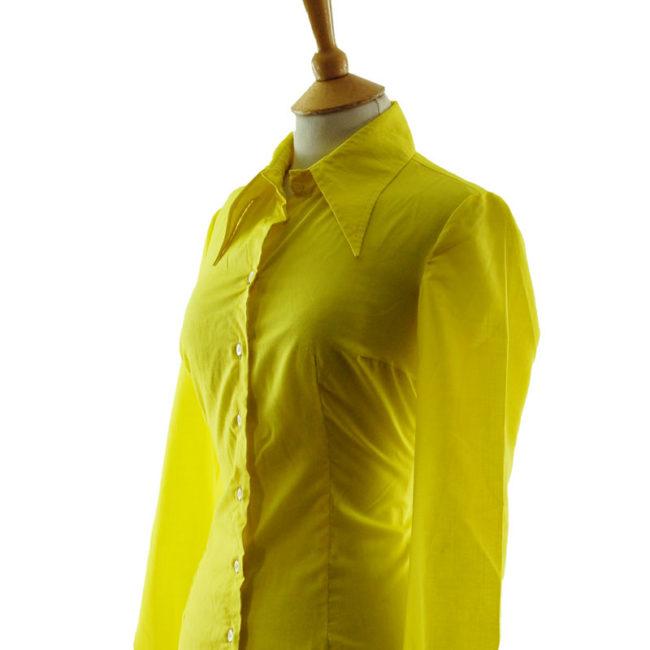 close 70s Louis London Vibrant Yellow Blouse