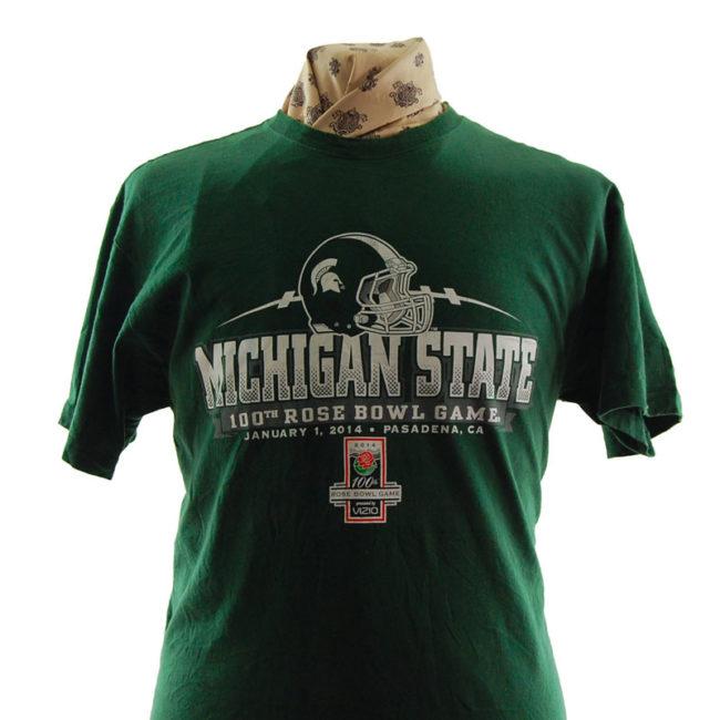 close up of 100th Rose Bowl Game T Shirt