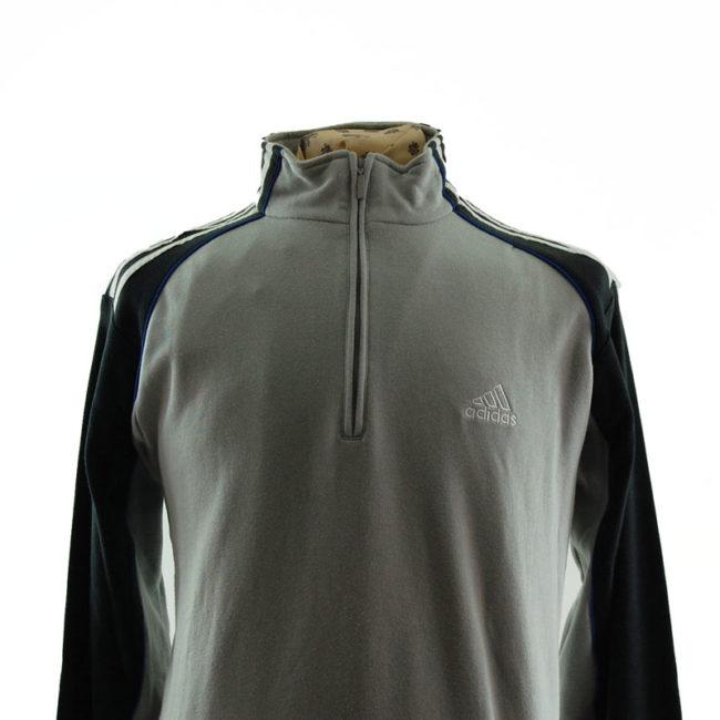close up of Adidas Quarter Length Zip Sweater