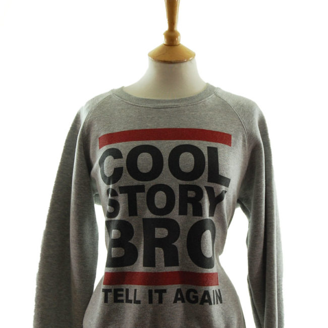 close up of Classic Cool Story Bro Sweater