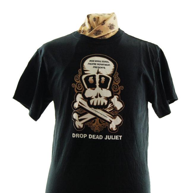 close up of Drop Dead Juliet T Shirt