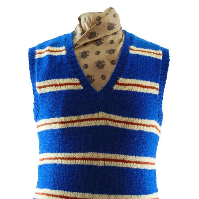 close up of Handmade Pure Wool Vest
