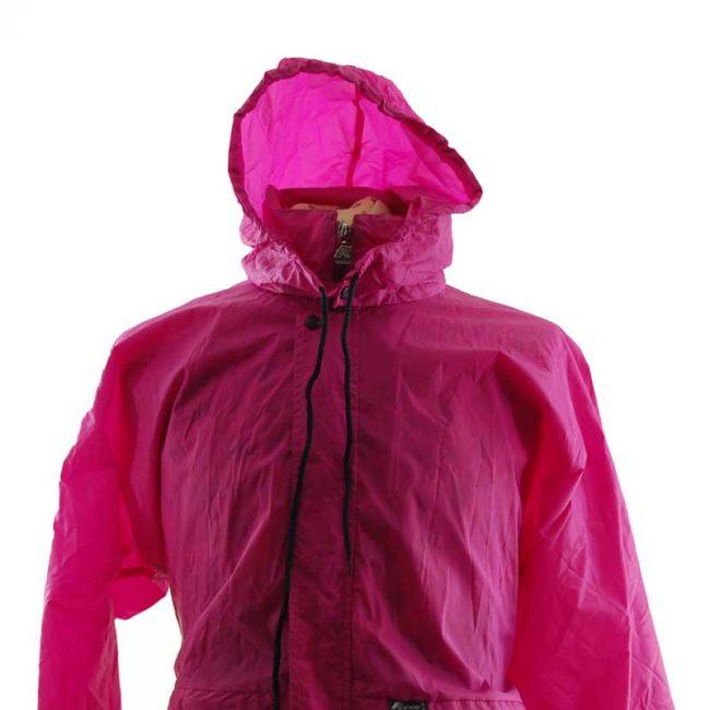 close up of Magenta Block Colour Windbreaker Jacket