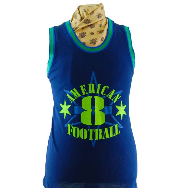 close up of Mens American Football Vest Top
