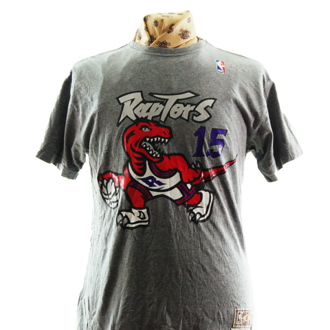 close up of NBA Rapters Basketball T Shirt