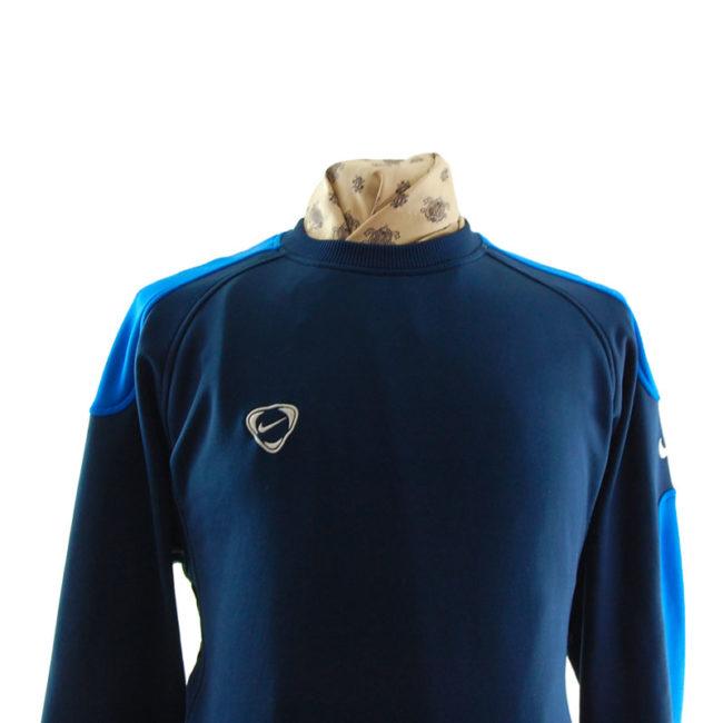 close up of Nike Oversized Navy Blue Sweater